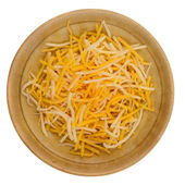 Shredded cheddar cheese — Stock Photo