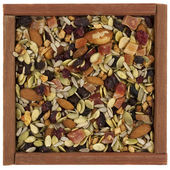Trail mix with nuts, berries — Stock Photo