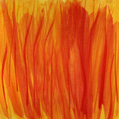 Fire flames, red and yellow watercolor — Stock Photo