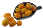Rustic scoop of kumquats — Stock Photo
