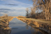 Irrigation channel in Colorado — Stock Photo