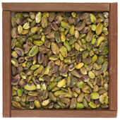 Raw shelled pistachio nuts — Stock Photo