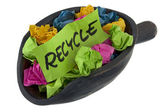 Recycle - colorful crumbled paper — Stock Photo