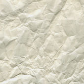 Thick white crumpled paper texture — Stock Photo