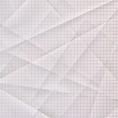 Folded and creased graph paper — Stock Photo