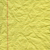 Crumpled yellow paper texture — Stock Photo