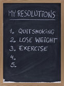 Quit smoking, exercise, loose weight — Stock Photo