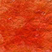 Crumpled red painted paper texture — Stock Photo