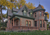 Historical sandstone house in Colorado — Stok fotoğraf