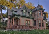Historiska sandsten hus i colorado — Stockfoto
