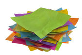Stack of colorful paper notes — Stock Photo