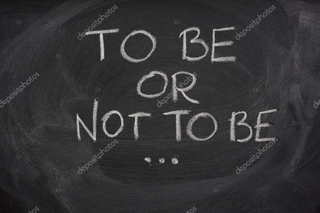To be or not to be, Hamlet question from play by Shakespeare handewritten with white chalk on a blackboard — Stock Photo #2050564