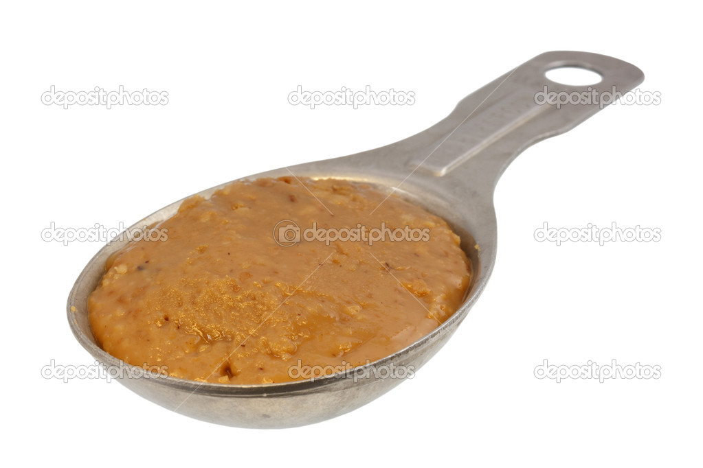 Tablespoon of creamy peanut butter stock photo for 1 tablespoon of peanut butter