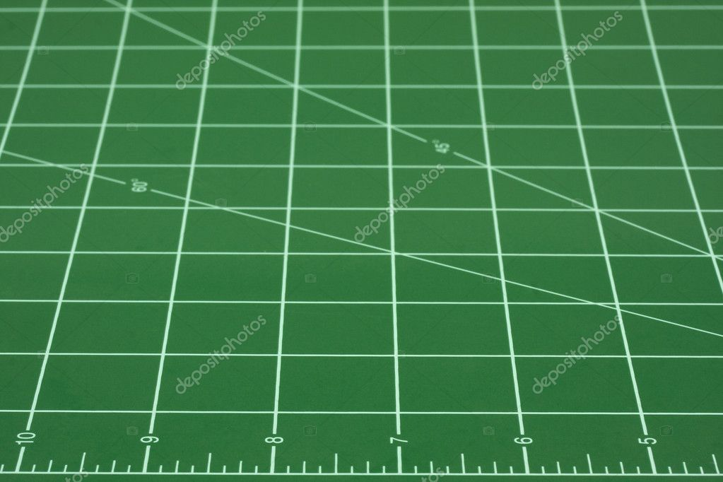 Green Self Healing Cutting Mat Abstract Stock Photo