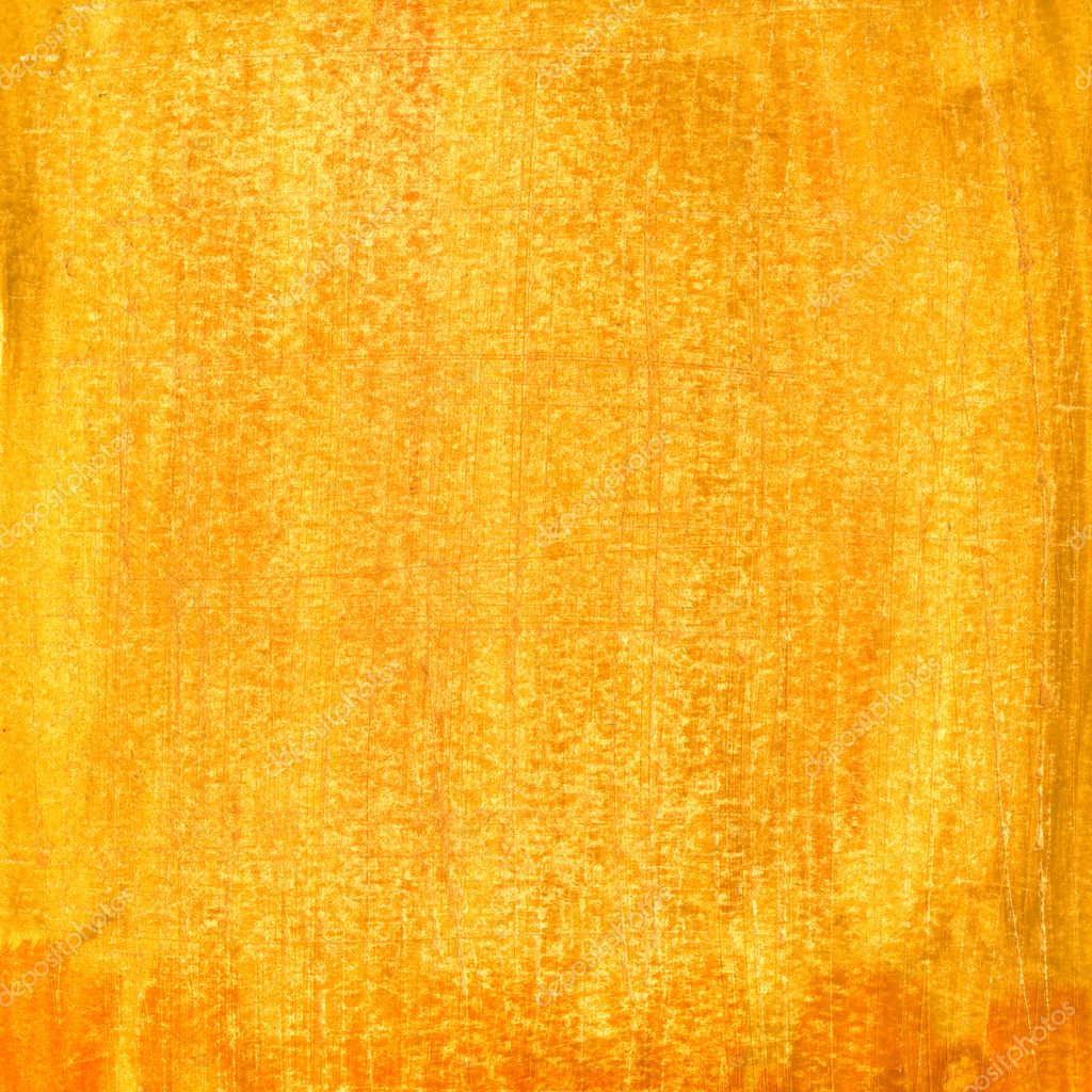 Yellow and orange watercolor painted abstract with scratched paper texture, self made — Stock Photo #2057681