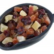 Dried cranberries, papaya and pineapple — Stock Photo