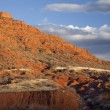 Eroded red mountain — Stock Photo