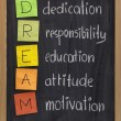 Dedication responsibility education ... - Stock Photo