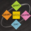 Stock Photo: Components of success, concept