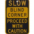 Blind corner warning sign — Stock Photo #2061834