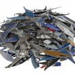 Credit cards shredded — Stock Photo