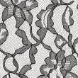 Black lace fabric with flower pattern - Stockfoto