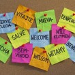 Welcome, willkommen, bienvenue, aloha — Stock Photo