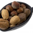 Scoop of mixed nuts — Stock Photo