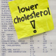 Stock Photo: Lower your cholesterol concept