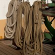 Постер, плакат: Coiled ropes and winch