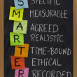 Stock Photo: Smart (smarter) goal setting