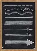 Lines and arrows - white chalk — Stock Photo