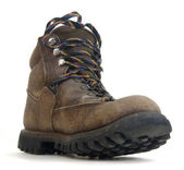 Heavy worn out hiking boot — Stock Photo