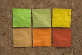 Blank crumpled sticky notes — Stock Photo