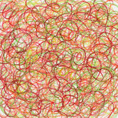 Red crayon scribble abstract background — Stock Photo
