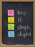 Keep it simple, stupid - KISS principle — Stock Photo