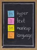 Hyper text markup language - html — Stock Photo