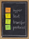 Hyper text transfer protocol - http — Stock Photo