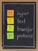 Hyper text transfer protocol - http — Stock Photo