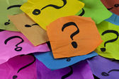 Preguntas o concepto de toma de decisiones — Foto de Stock