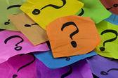 Pytania lub koncepcja podejmowania decyzji — Zdjęcie stockowe