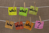 Brainstorming - unaswered questions — Stock Photo