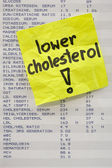 Lower your cholesterol concept — Stok fotoğraf