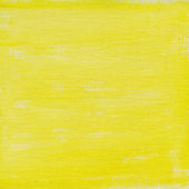 Yellow watercolor abstract on canvas — Stock Photo