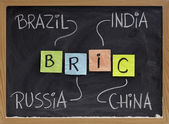 Brazil, Russia, India and China - BRIC — Stock Photo