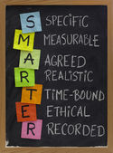 Smart (smarter) goal setting — Stock Photo