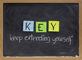 Keep extending yourself — Stock Photo