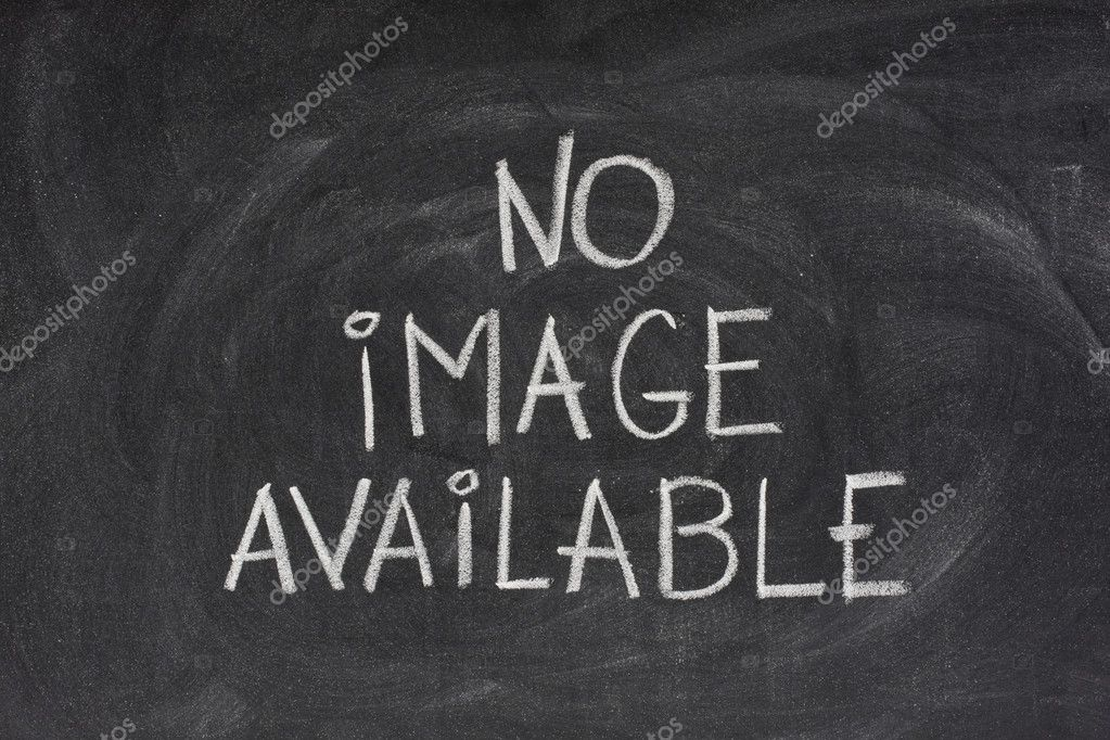 Internet browser error message, no image available, handwritten with white chalk on blackboard with eraser smudges — Stock Photo #2061693