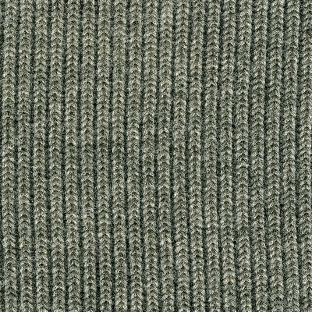 Close-up of gray knitted wool sweater texture, vertical thread patterns — Stock Photo #2061852