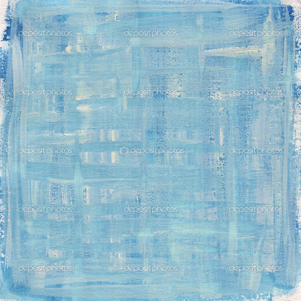 Texture of rough blue and white watercolor abstract on artist cotton canvas, self made  Stock Photo #2062385
